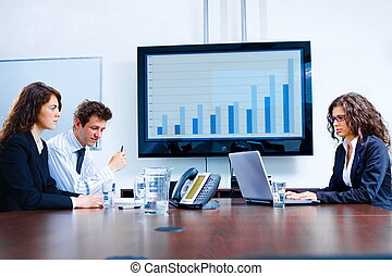 Geschäftsbesprechung im Vorstand