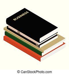 Geschäftsbuch isometrische