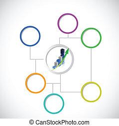 Geschäftsdiagramm Diagramm Illustration Design.