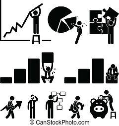 Geschäftsfinanz-Mitarbeiter