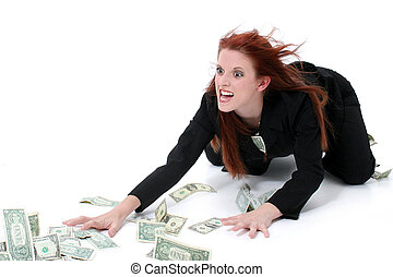 Geschäftsfrauen-Geld