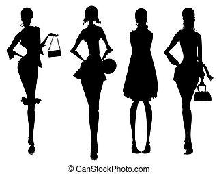 Geschäftsfrauen-Silhouette