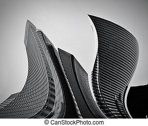 Geschäftshimmelkratzer abstrakte konzeptionelle Architektur