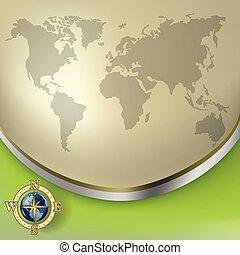 Geschäftshintergrund mit dem Globus deaktivieren