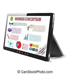 Geschäftskonzeption auf dem Tablet-Computerbildschirm.
