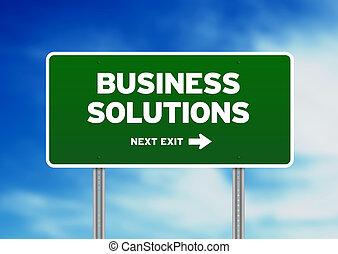 Geschäftslösungen-Straßenschild
