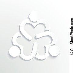 Geschäftslabel weißes Logo