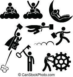 Geschäftsleute-Arbeitskonzept