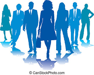 Geschäftsleute blau