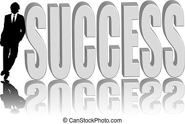 Geschäftsleute erfolgreich