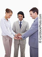 Geschäftsleute freuen sich