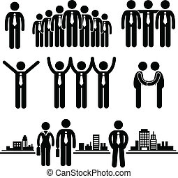 Geschäftsleute, Gruppenarbeiter