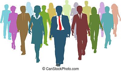 Geschäftsleute haben verschiedene Personal-Teamführer