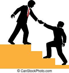 Geschäftsleute helfen beim Erfolg.
