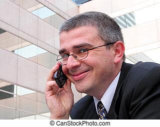 Geschäftsleute lächeln