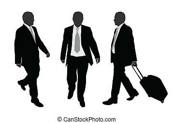 Geschäftsleute laufen