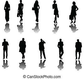 Geschäftsleute mit Schatten