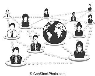 Geschäftsleute Netzwerk