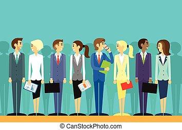 Geschäftsleute sammeln die Humanressourcen flachen Vektor.