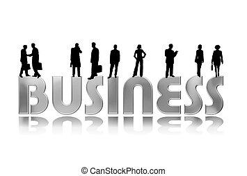 Geschäftsleute schimpfen