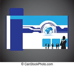 Geschäftsleute und Welt-Website