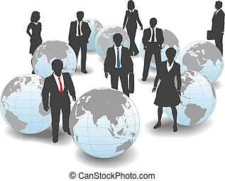 Geschäftsleute weltweites Arbeitsteam