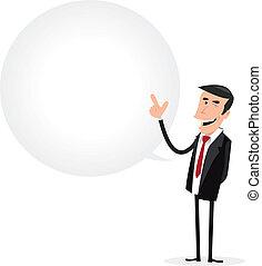 Geschäftsmänner-Redeblase