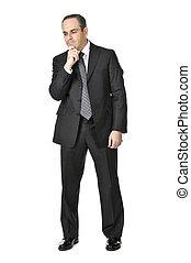 Geschäftsmann im weißen Hintergrund