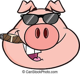 Geschäftsmann Schweinkopf.