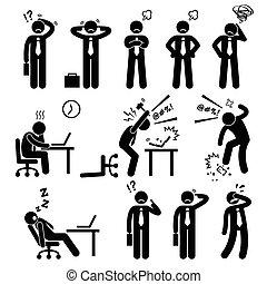 Geschäftsmann Stress Büro