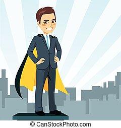Geschäftsmann Superheld.