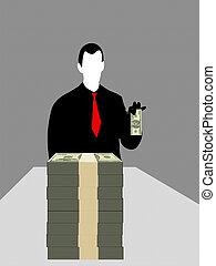 Geschäftsmann und Dollar