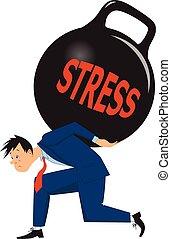 Geschäftsmann unter Stress
