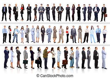 geschäftsmenschen, -, junger, attraktive, mannschaft, elite