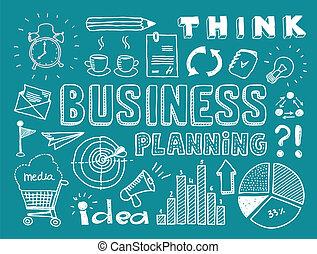 Geschäftsplanungs-Doodles