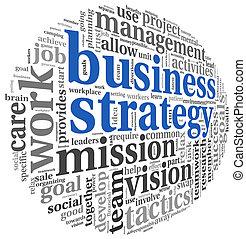 Geschäftsstrategie-Konzept in Wort-Tag-Wolke