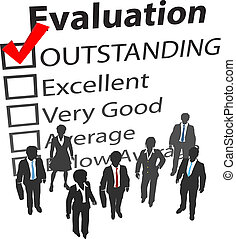 Geschäftsteam beste Personalbewertung