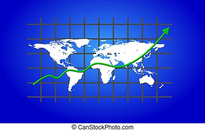 Geschäftsweltkarte