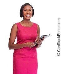 geschaeftswelt, african-american, woman.