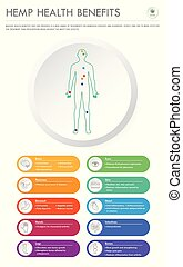 geschaeftswelt, infographic, gesundheit, vorteile, senkrecht, hanf