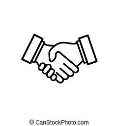 geschaeftswelt, relationship., handshake.