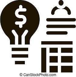 geschaeftswelt, vektor, symbol, abbildung, ikone, idee