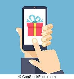 Geschenk-App auf Smartphone-Bildschirm