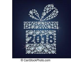 Geschenk mit 2018 machte eine Menge Diamanten.
