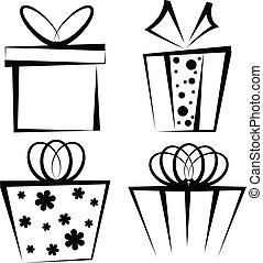 Geschenkkasten-Icon-Set