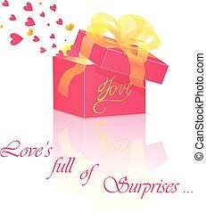 Geschenkkasten mit Liebe