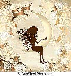 geschichte, weihnachten, gold