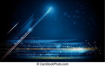 Geschwindigkeit und Bewegungsunschärfe, Energietechnologie-Konzept
