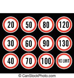 Geschwindigkeitsbegrenzer Vektor