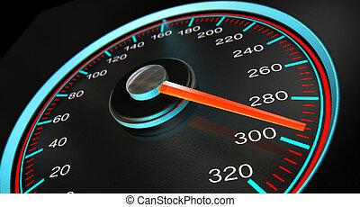 Geschwindigkeitsmesser.